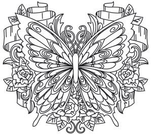 Free Printable Butterfly Coloring Pages For Adults at ...