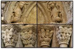 Pòquer de detalls, Església de St. Vicenç, Besalú