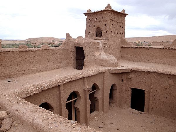 """Ait Ben Haddou, a """"ksar"""" which consists of many houses. Once it was a fortress."""