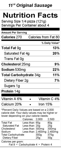 Pizza Nutrition Facts - NutritionWalls