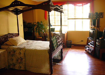 My erstwhile bedroom, still intact!
