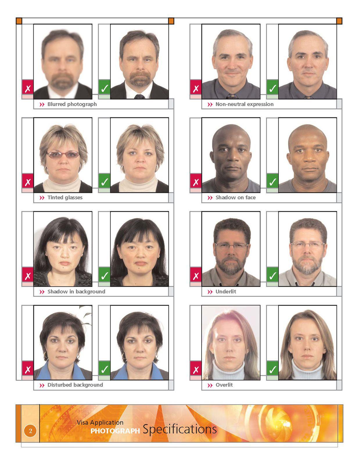 Canada Format Des Photos Pour Visa Immigration Aux Canadas