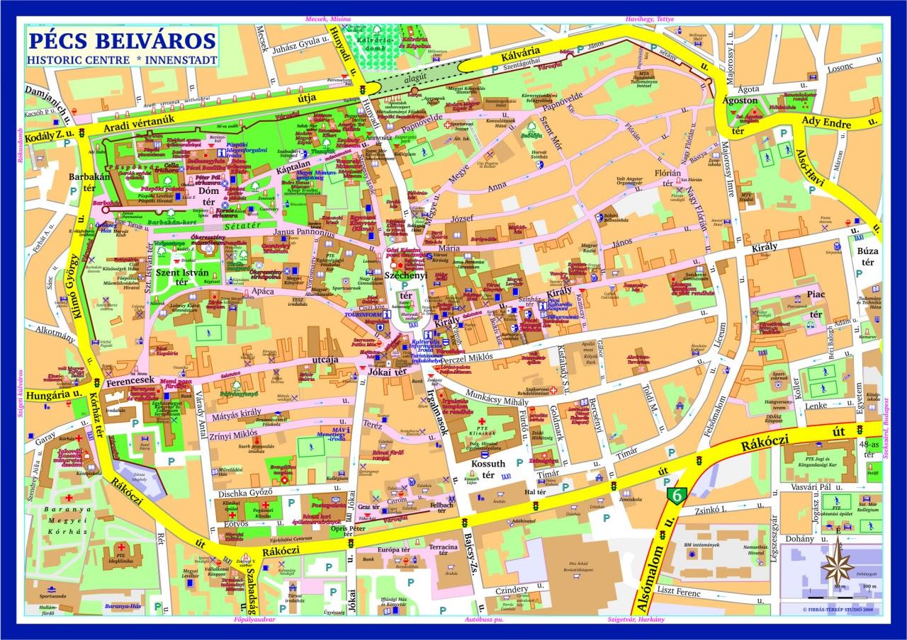pecs terkep Pécs Térkép Részletes | Térkép
