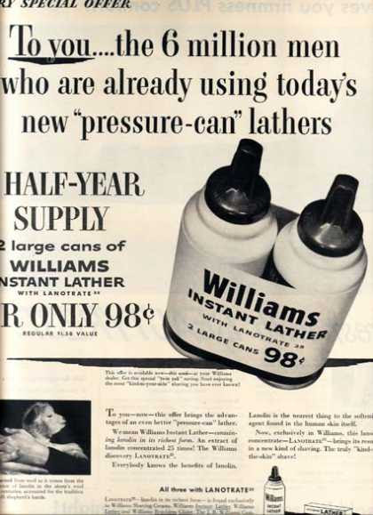 """William's """"new 'pressure-can' lathers"""" (1954)"""