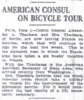 US Diplomat on Cycle Tour