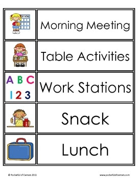 1000+ ideas about Daily Schedule Cards on Pinterest | Schedule ...