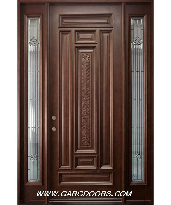 Glen Woodjob Teak Wood Door Design India