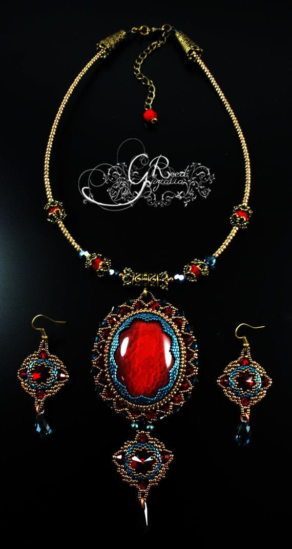 RESERVED. Baroque style necklace by LiaReed on Etsy, $130.00