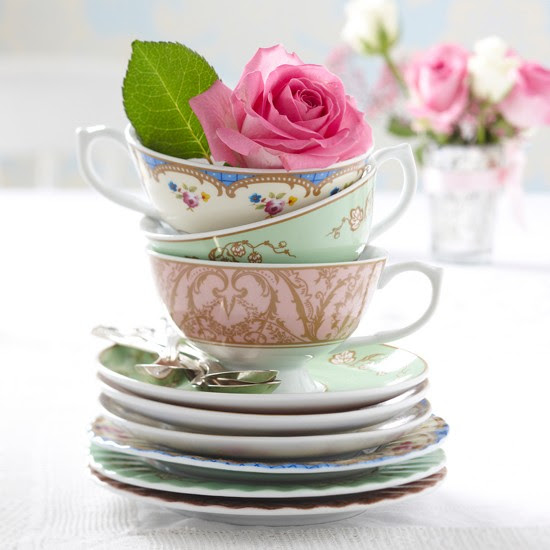 Tea cups and roses