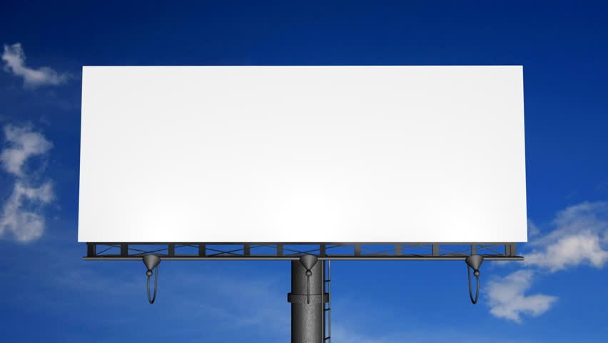 Blank Billboard With Moving Clouds (HD) Stock Footage Video ...