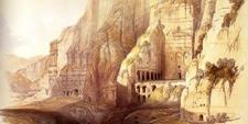 Lámina de la Tumba de la Urna en Petra