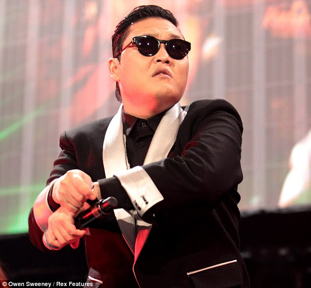 Uncanny: The resemblance of the giant snow sculpture to the Gangnam Style man himself, is, arguably, uncanny
