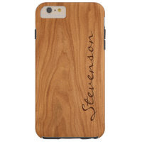 Personalized Wood Look - Walnut Wood Grain Texture Tough iPhone 6 Plus Case