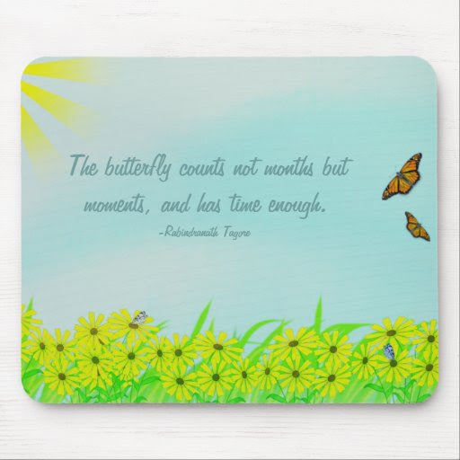 Precious Moments Butterflies Quote Mouse Pad  Zazzle