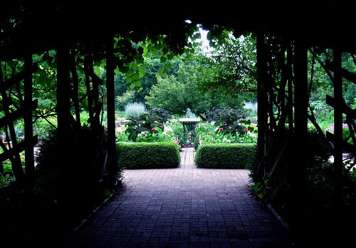 Entry to the herb garden