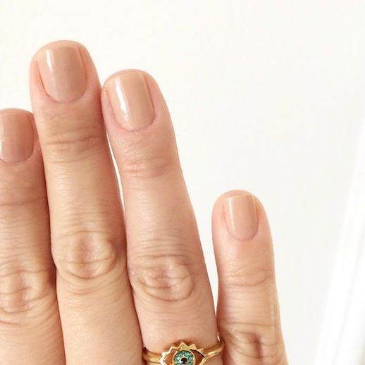 Le Fashion Blog Instagram Estee Lauder Nudite Nail Polish Nude Nails Juicy Couture Eye Ring