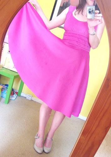 pink velveteen sis boom skirt