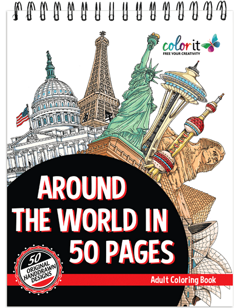 47 World Coloring Book For Adults Free Images