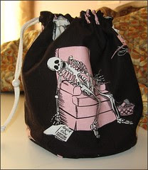 Chocolate and Pink Knit2 Bag - front