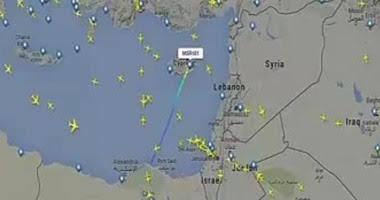 مسار الطائرة المختطفة