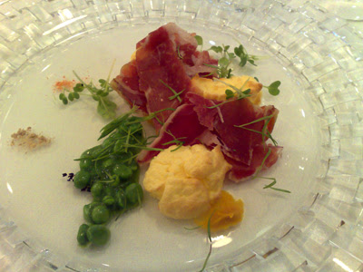 jamon and goat cheese souffle