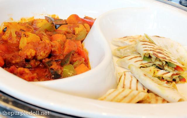08 Vegetable Kurma and Tortilla Wraps