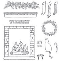 Festive Fireplace Photopolymer Stamp Set by Stampin' Up!