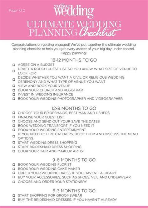 Best 25  Wedding checklist uk ideas on Pinterest