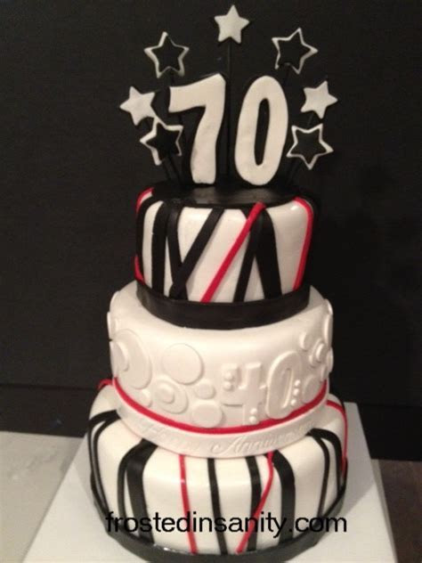 Frosted Insanity: 70th Birthday Cake