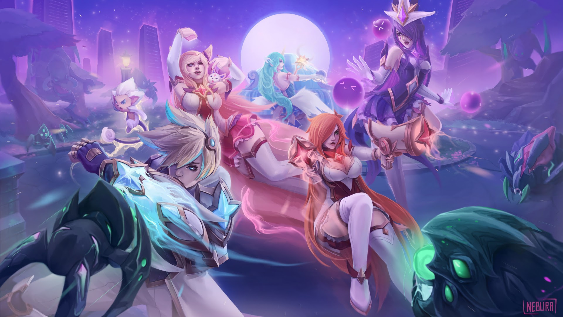 Star Guardian Syndra Ahri Miss Fortune Soraka Ezreal