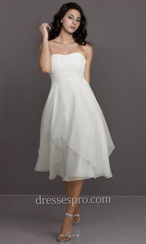 flowing short plus size beach wedding dresses   Strapless