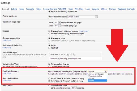 Google Plus e-mail configuração gmail