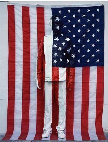 Liu Bolin, Hiding in the city 62 American Flag