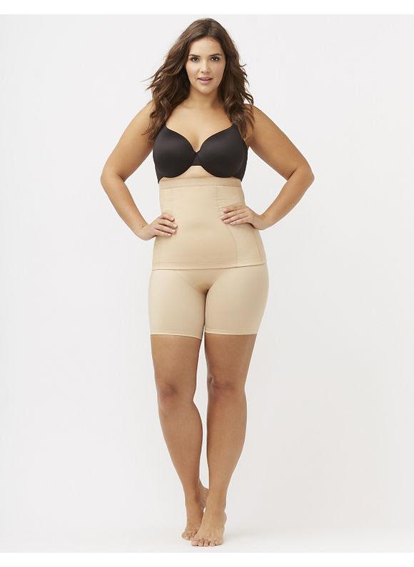 Shape by Cacique Plus Size Illusion waist cincher, Women's, Size: 18\/20, Tan