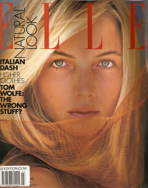Elle USA, March 1990Model: Rachel Williams