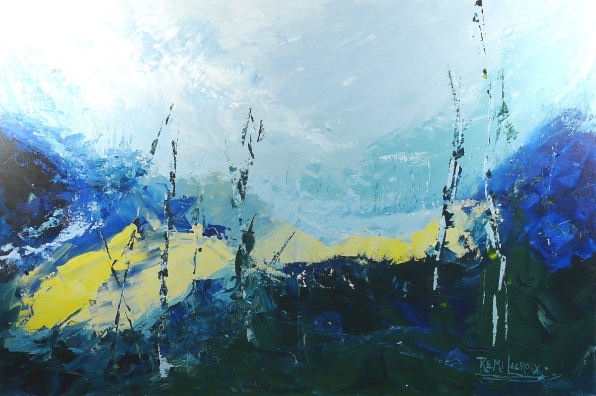 Terre d'hiver no 12 - 24x36 po - Acrylique sur toile (Disponible)