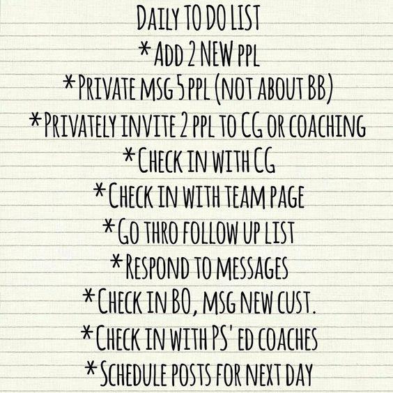Daily to-do/ power hour   Beachbody Business   Pinterest   Team ...