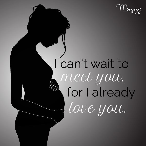 I Cant Wait To Meet You For I Already Love You Picture Quotes