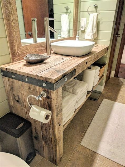 rustic farmhouse bathroom vanity danyells decor