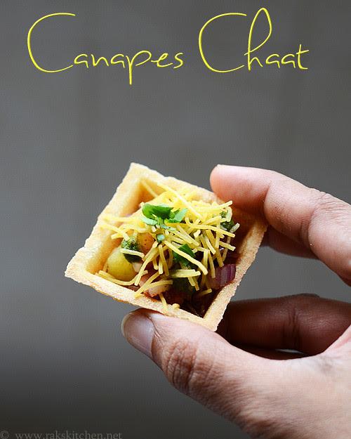 canape chaat recipe