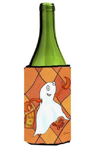 Crawfish Halloween Ghost Wine Bottle Koozie Hugger