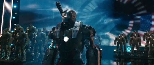 A screenshot from the IRON MAN 2 theatrical trailer.