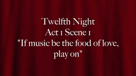 twelfth night duke orsino     food  love