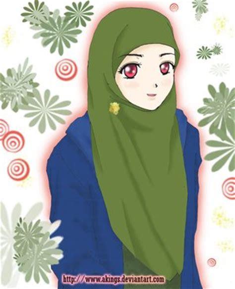 tiwiseketi animasi kartun perempuan muslimah berjilbab