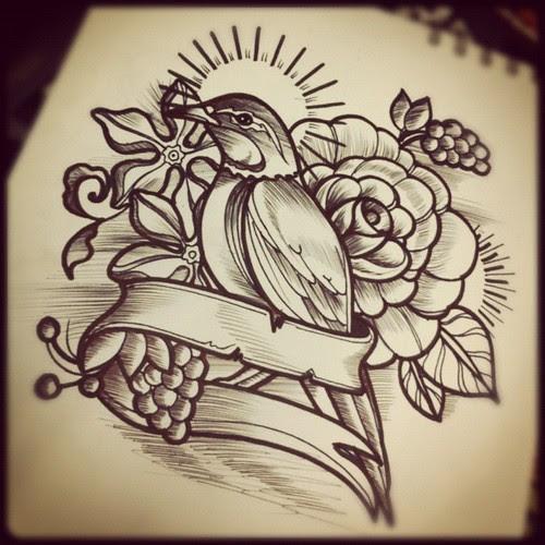 Diseño De Hoy Bird Design Tattoo Tatuaje Skin Oldschool