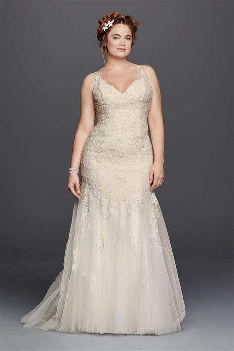 Extra Length Lace Plus Size Melissa Sweet Illusion V