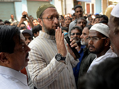 """Owaisi's AIMIM, that openly practices identity politics without the coating of """"secularism"""", has manifestly added to Mamata's problems. AFP"""