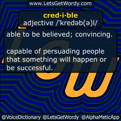 credible 06/29/2017 GFX Definition