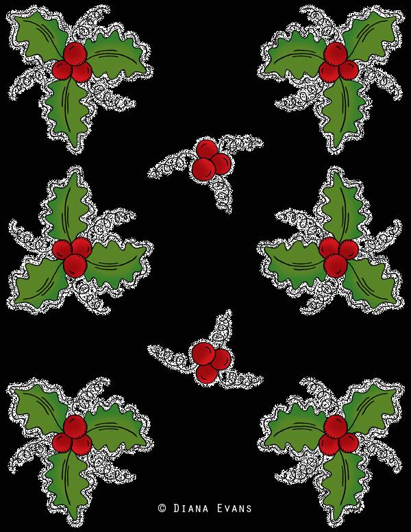 holly berry black wrap