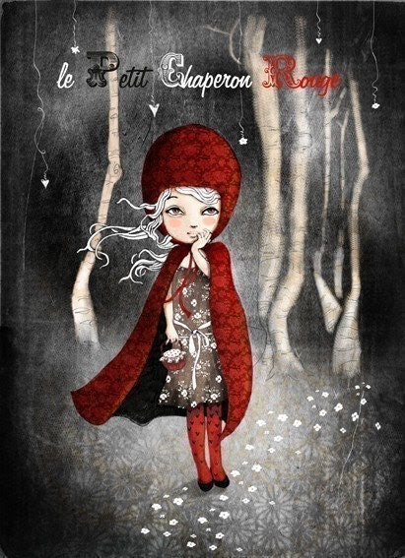 Le petit chaperon rouge  - digital art Print
